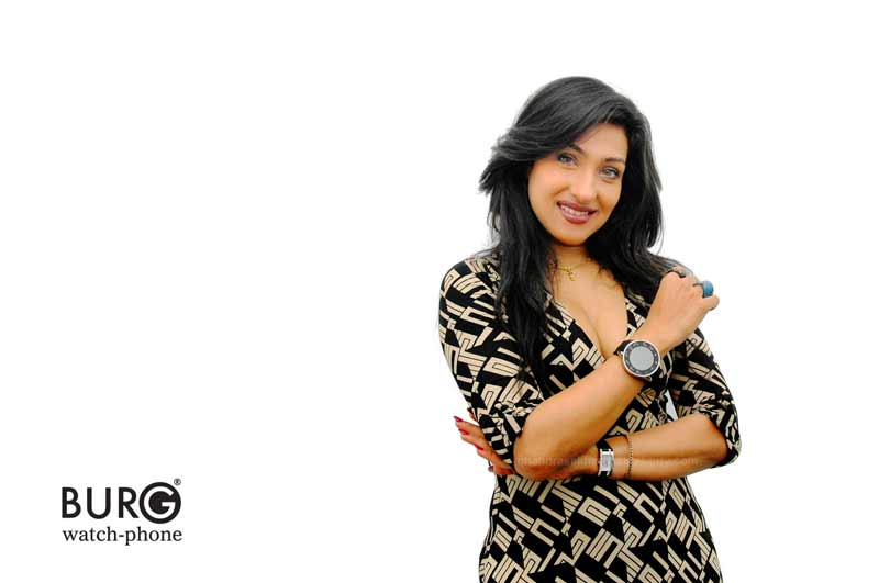 Commercial photography of Bengali Actress Rituparna And Burg watch phone