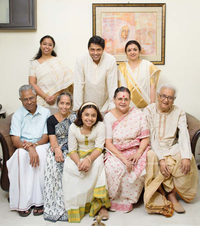 bengali and South Indian's family portrait at home