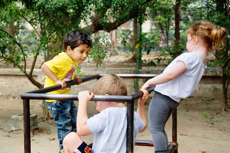 kids playing in park