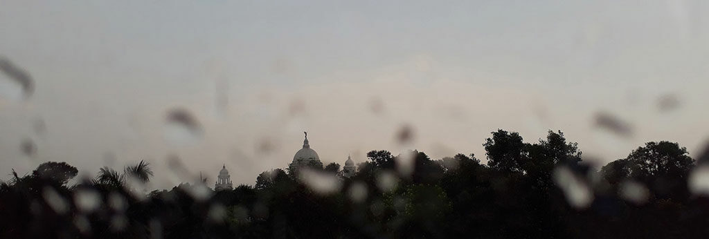 Rain drowp image of Victoria Memorial,Contact for Photography in Kolkata