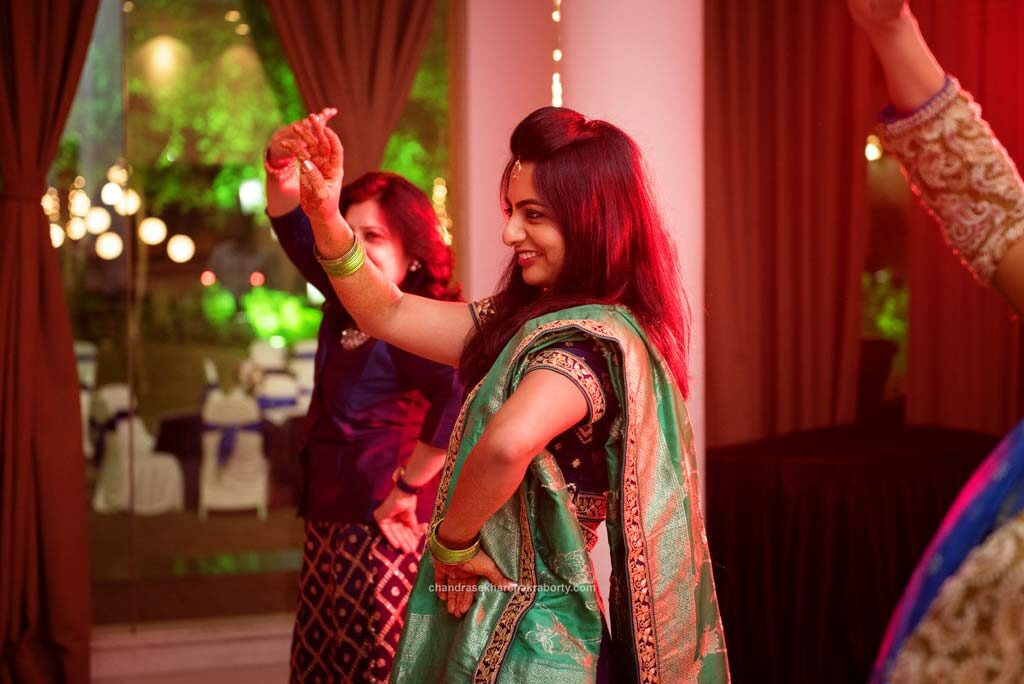 bride dancing at the sangeet ceremony