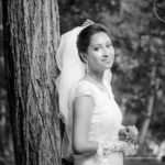 Outdoor Black & White image of Christian wedding photography